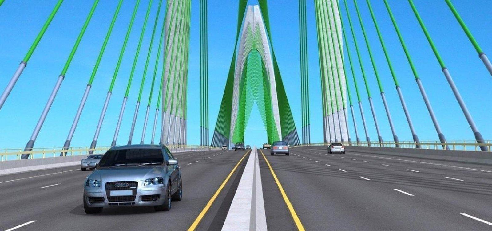Edital de construção da ponte Salvador/Itaparica será lançado em maio, diz secretário